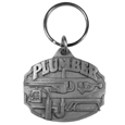 Plumber Antqued Key Chain - Our unique key chains are fully cast metal fobs with exceptional carved detail. Since these key rings are fully metal they stand up the rigorous day to day use and will keep looking great for years to come. The original designs are a great way to express your personal style while keeping your house and auto keys organized.