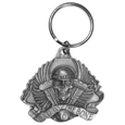 Bad To The Bone Antiqued Key Chain - Scultped and hand enameled key ring featuring a Bad To The Bone Plain emblem.