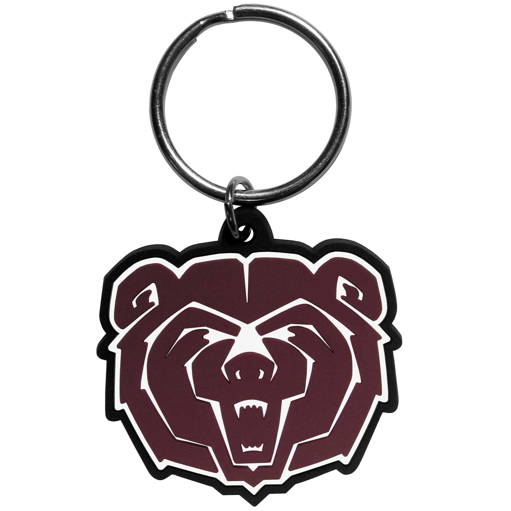 Missouri St. Bears Flex Key Chain - Our fun, flexible  key chains are made of a rubbery material that is layered to create a bright, textured logo.
