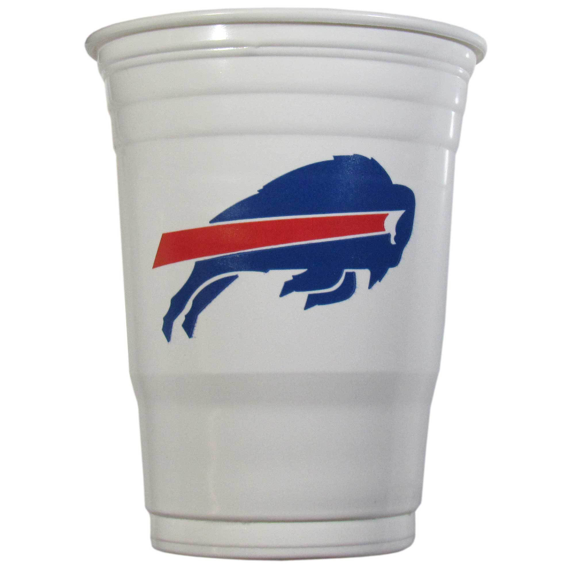 Buffalo Bills Plastic Game Day Cups 2 sleeves of 18 (36 Cups) - Our 18 ounce game day cups are what every tailgating or backyard events needs! The cups feature a big Buffalo Bills logo so you can show off your team pride. The popular 18 ounce size is perfect for drinks or ping pong balls! 2 sleeves of 18 cups, 36 cups in total.
