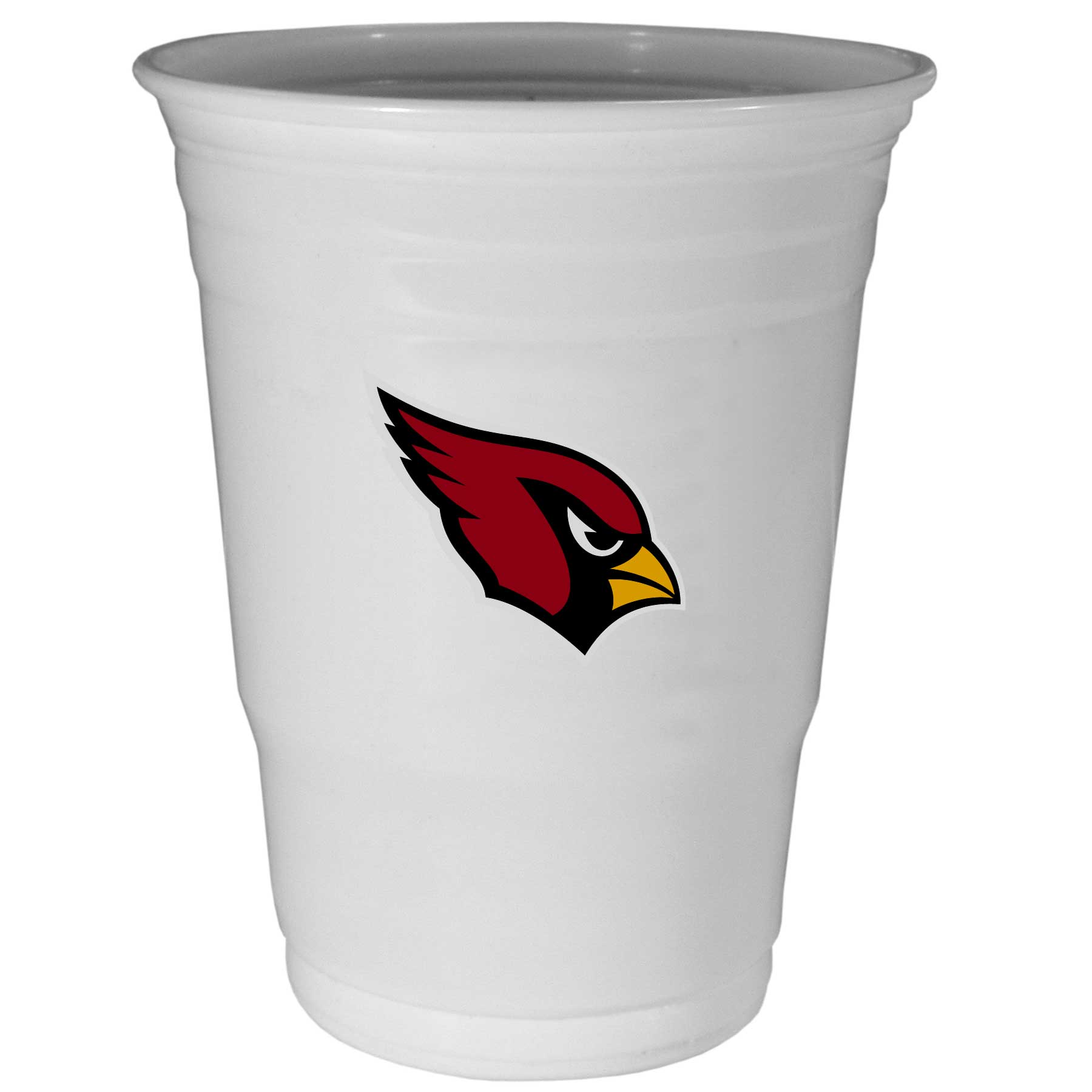 Arizona Cardinals Plastic Game Day Cups 2 sleeves of 18 (36 Cups) - Our 18 ounce game day cups are what every tailgating or backyard events needs! The cups feature a big Arizona Cardinals logo so you can show off your team pride. The popular 18 ounce size is perfect for drinks or ping pong balls! 2 sleeves of 18 cups, 36 cups in total.