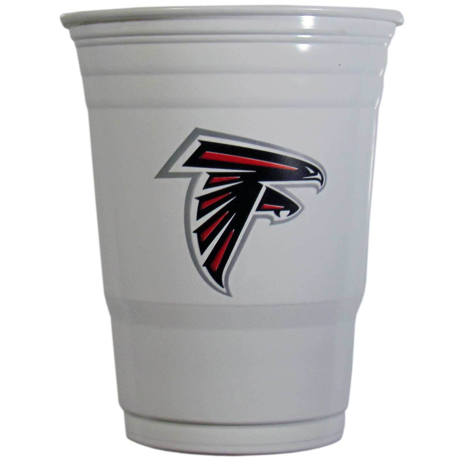 Atlanta Falcons Plastic Game Day Cups 2 sleeves of 18 (36 Cups) - Our 18 ounce game day cups are what every tailgating or backyard events needs! The cups feature a big Atlanta Falcons logo so you can show off your team pride. The popular 18 ounce size is perfect for drinks or ping pong balls! 2 sleeves of 18 cups, 36 cups in total.