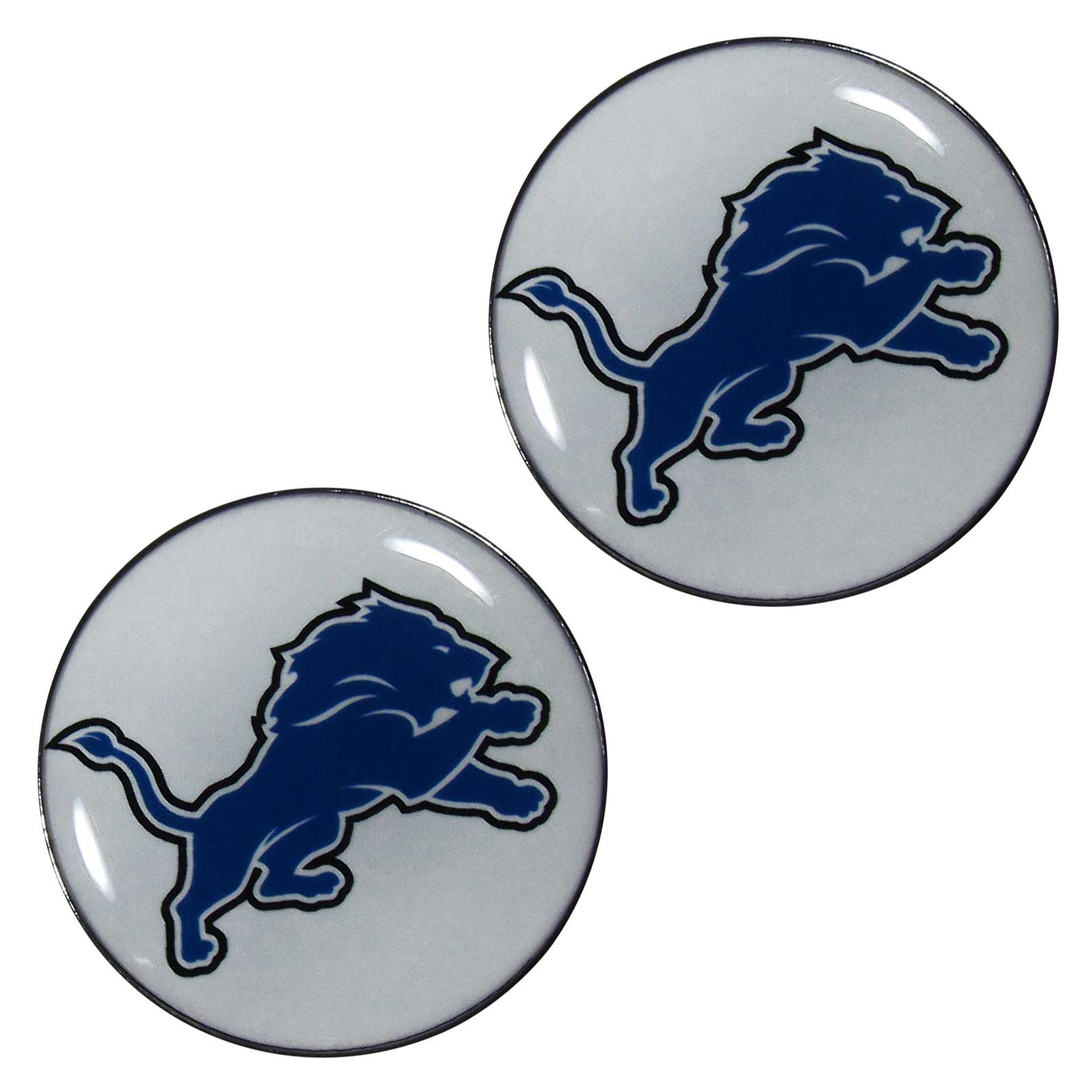 Detroit Lions Ear Gauge Pair  - Officially licensed NFL Detroit Lions ear plugs are double flared for a snug fit and the back screws on and off. They are made of quality 316L stainless steel and feature an inlaid Detroit Lions logo.