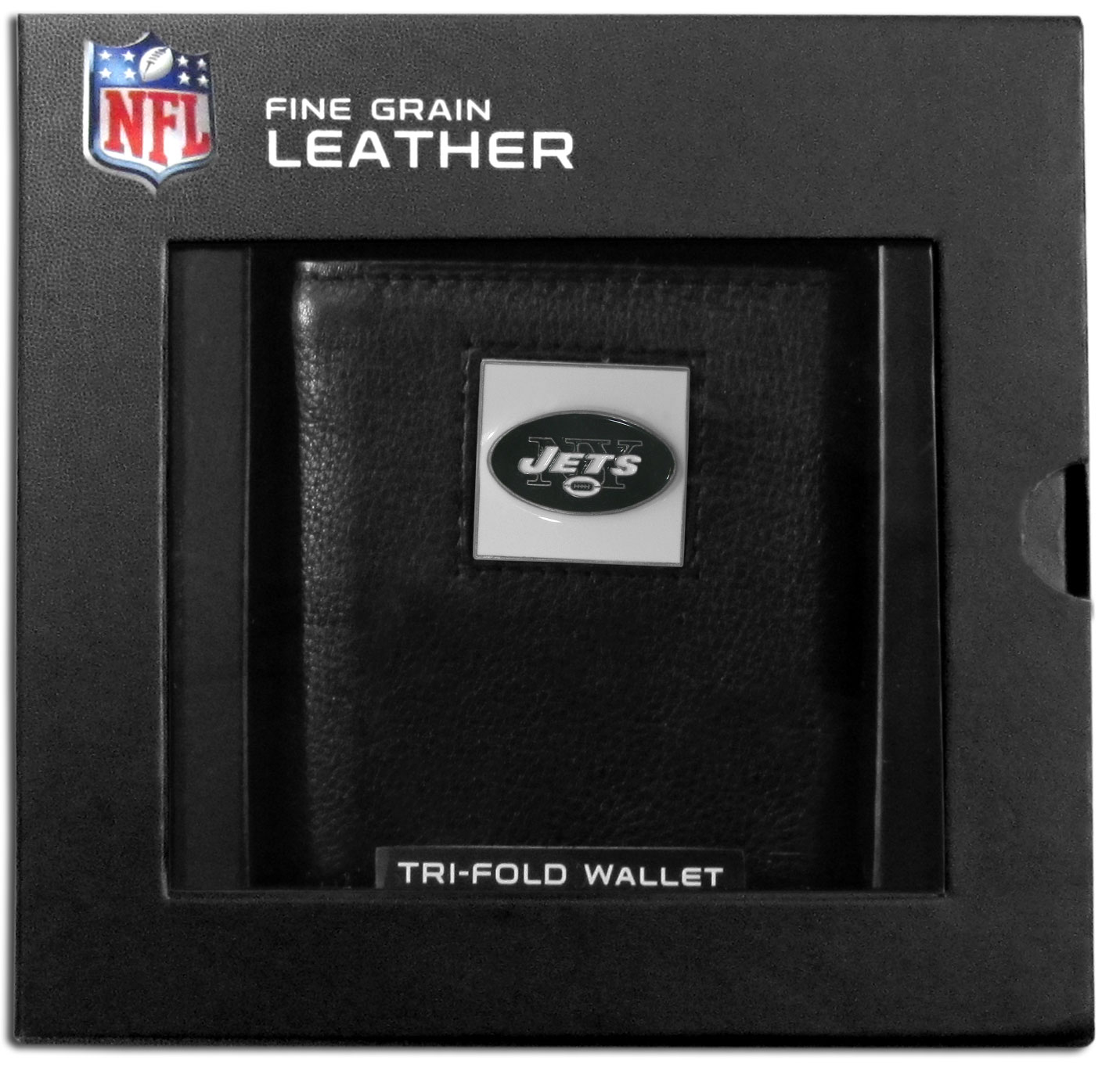 New York Jets Deluxe Leather Tri-fold Wallet Packaged in Gift Box 0783ffde4