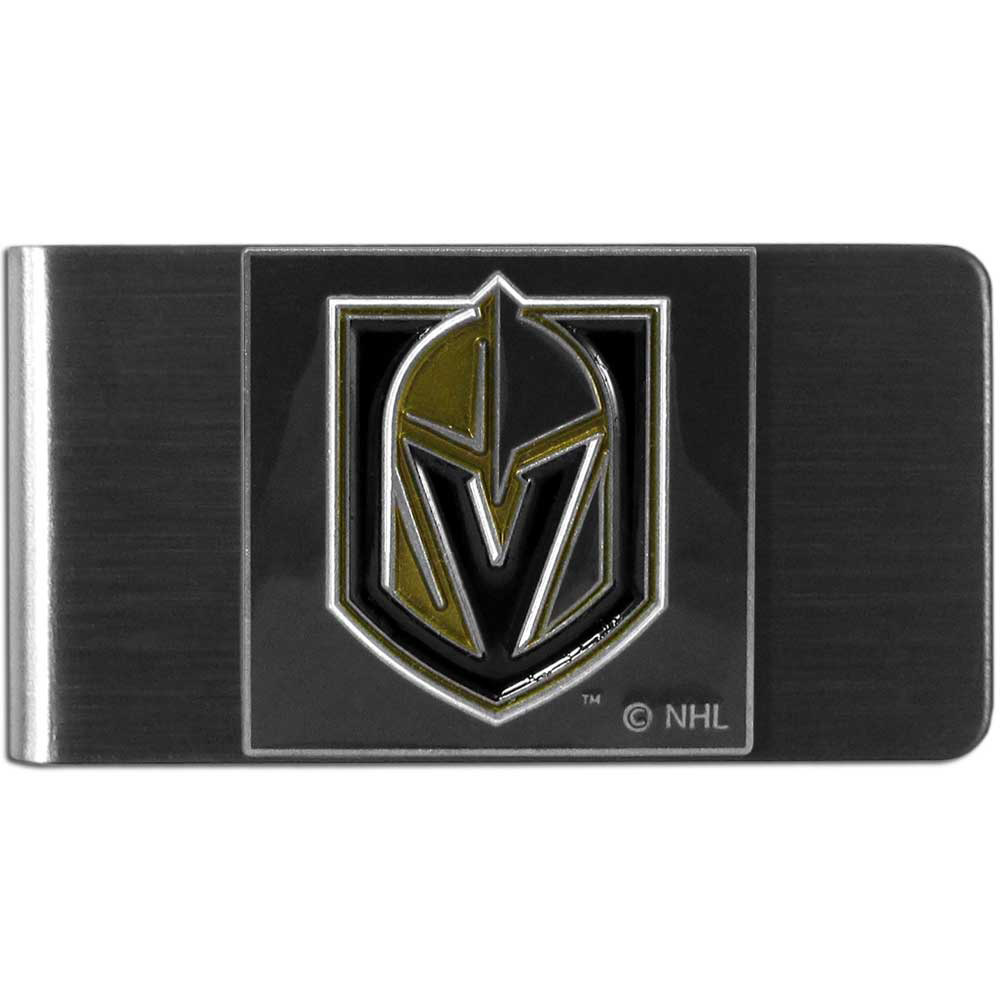 Las Vegas Golden Knights® Steel Money Clip - Our stainless steel money clip has classic style and team pride wrapped up in a beautiful package. The attractive clip features a metal Las Vegas Golden Knights® emblem with expertly enameled detail