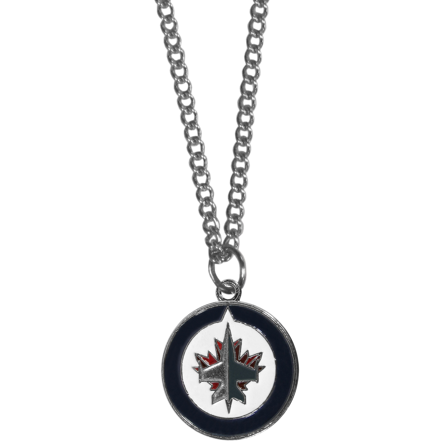 Winnipeg Jets™ Chain Necklace - Make a statement with our chain necklaces. The 22 inch chain features a fully cast, metal Winnipeg Jets™ pendant with vivid enameled details. Perfect accessory for game day and nice enough to wear everyday!
