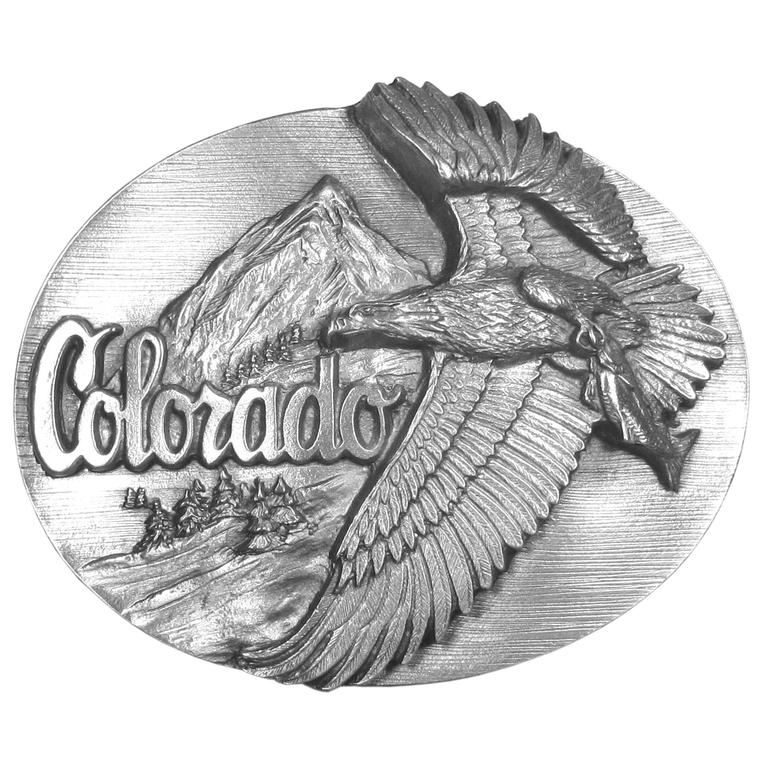 Colorado Antiqued Belt Buckle - Finely sculpted and intricately designed belt buckle. Our unique designs often become collector's items.