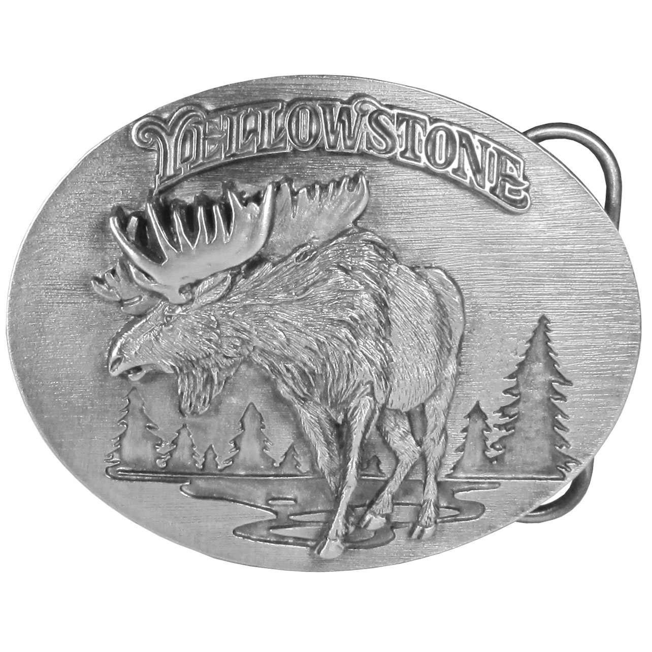 Yellowstone Antiqued Belt Buckle - Finely sculpted and intricately designed belt buckle. Our unique designs often become collector's items.