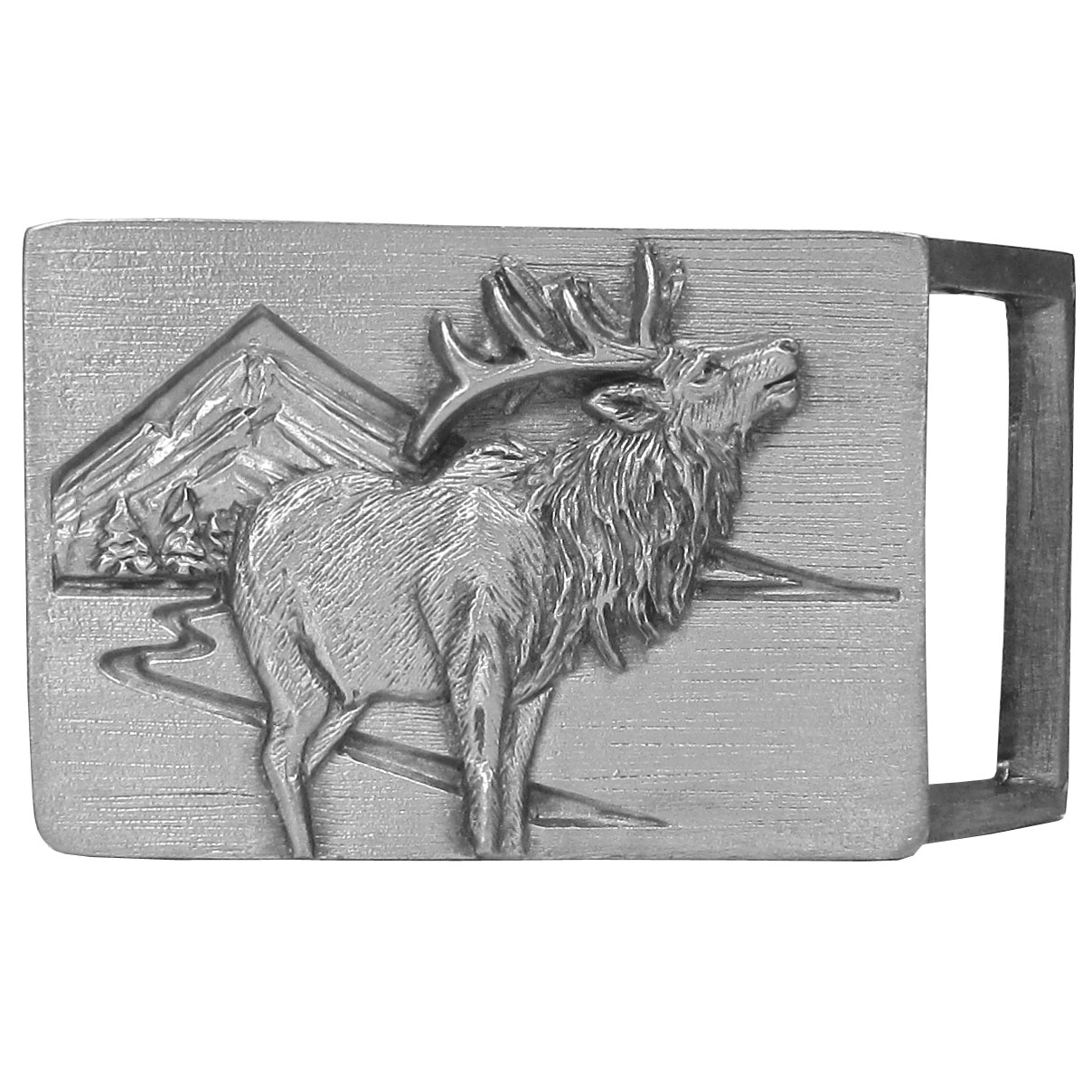 Elk Antiqued Belt Buckle - Finely sculpted and intricately designed belt buckle. Our unique designs often become collector's items.