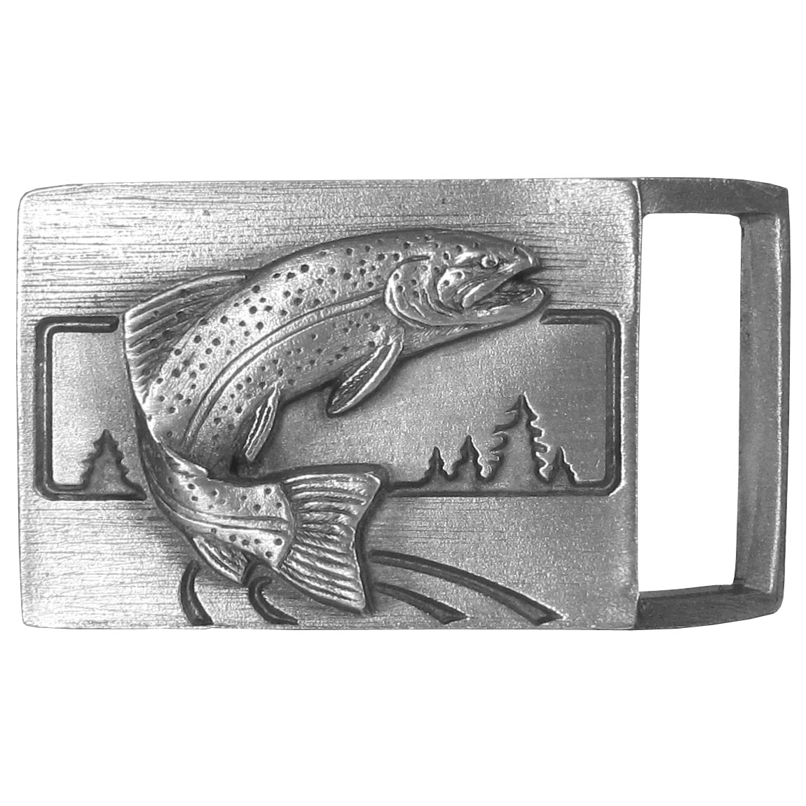 Trout Antiqued Belt Buckle - Finely sculpted and intricately designed belt buckle. Our unique designs often become collector's items.