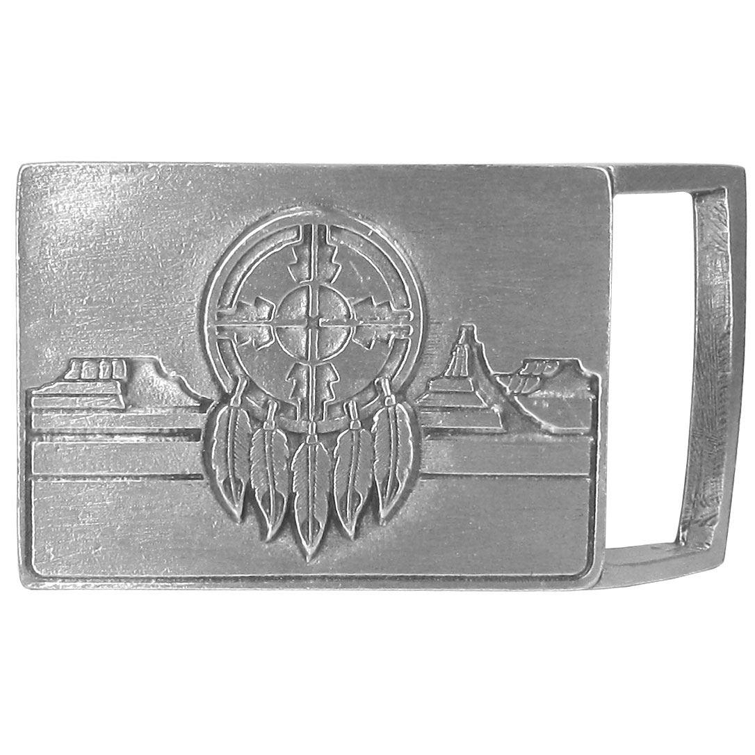Native American Shield Antiqued Belt Buckle - Finely sculpted and intricately designed belt buckle. Our unique designs often become collector's items.