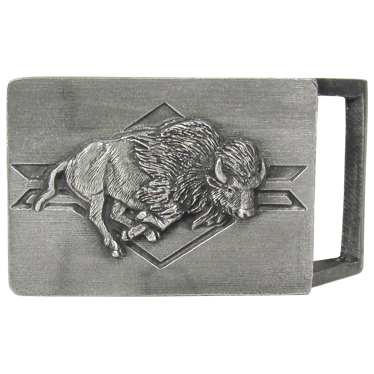 Buffalo Antiqued Belt Buckle - Finely sculpted and intricately designed belt buckle. Our unique designs often become collector's items.