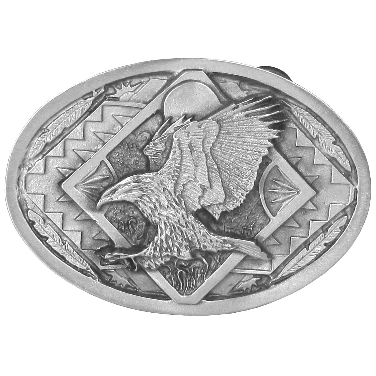 Eagles Antiqued Belt Buckle - Finely sculpted and intricately designed belt buckle. Our unique designs often become collector's items.