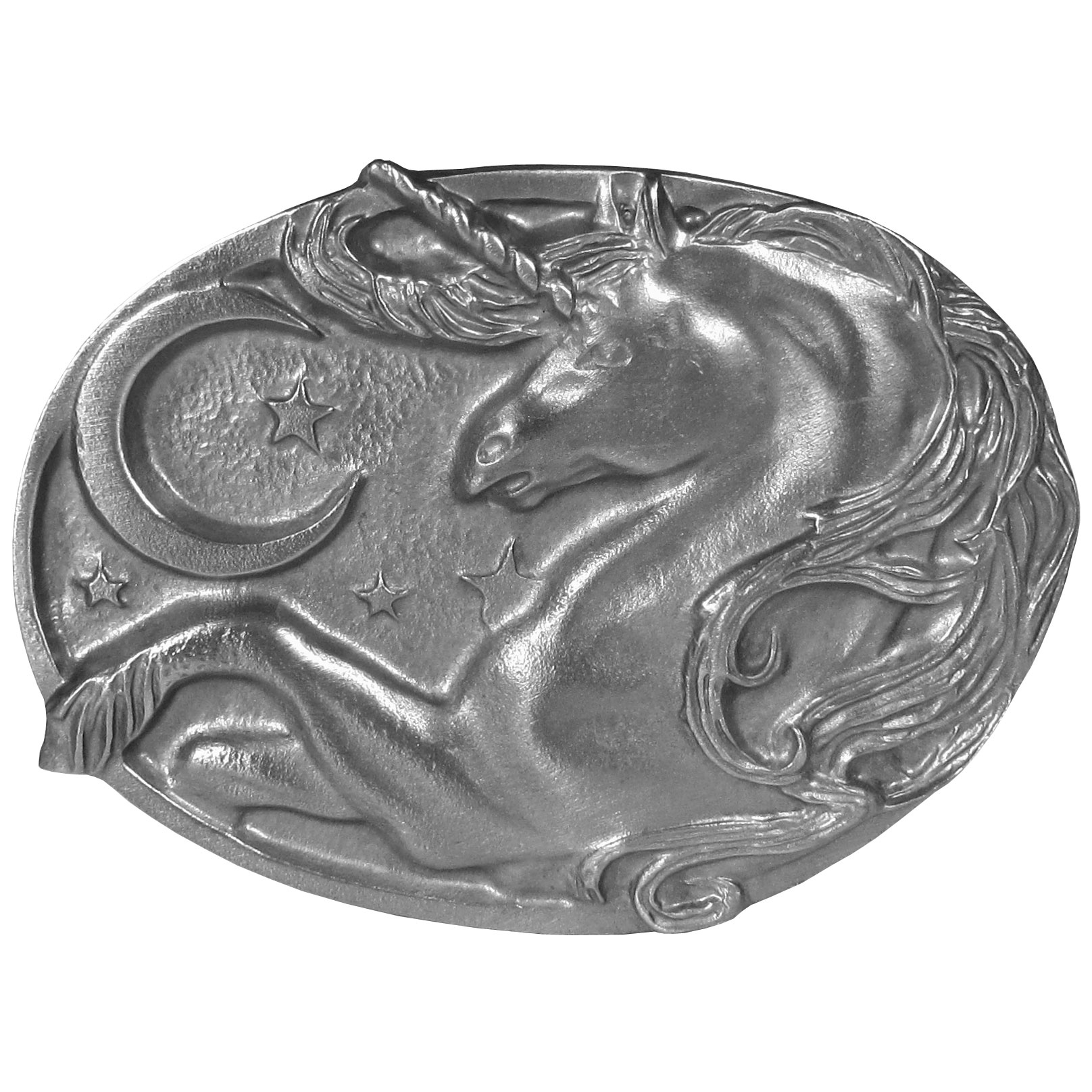 Unicorn Antiqued Belt Buckle - Finely sculpted and intricately designed belt buckle. Our unique designs often become collector's items.