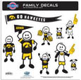 Iowa Hawkeyes Family Decal Set Large