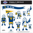 W. Virginia Mountaineers Family Decal Set Large