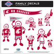 Washington St. Cougars Family Decal Set Large