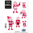 Ohio St. Buckeyes Family Decal Set Small
