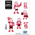 Nebraska Cornhuskers Family Decal Set Small