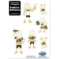 Colorado Buffaloes Family Decal Set Small