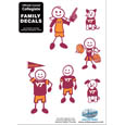 Virginia Tech Hokies Family Decal Set Small