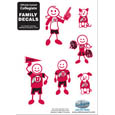Utah Utes Family Decal Set Small