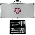 Texas A & M Aggies 8 pc Stainless Steel BBQ Set w/Metal Case