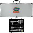 Florida Gators 8 pc Stainless Steel BBQ Set w/Metal Case