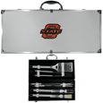 Oklahoma State Cowboys 8 pc Stainless Steel BBQ Set w/Metal Case
