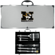 Missouri Tigers 8 pc Stainless Steel BBQ Set w/Metal Case