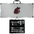 Washington St. Cougars 8 pc Stainless Steel BBQ Set w/Metal Case