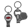 Arkansas Razorbacks Nail Care/Bottle Opener Key Chain