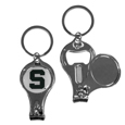 Michigan St. Spartans Nail Care/Bottle Opener Key Chain