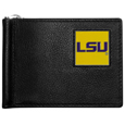 LSU Tigers Leather Bill Clip Wallet