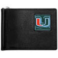Miami Hurricanes Leather Bill Clip Wallet