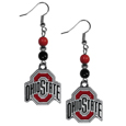 Ohio St. Buckeyes Fan Bead Dangle Earrings