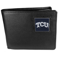 TCU Horned Frogs Leather Bi-fold Wallet