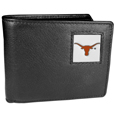 Texas Longhorns Leather Bi-fold Wallet Packaged in Gift Box
