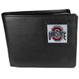 Ohio St. Buckeyes Leather Bi-fold Wallet Packaged in Gift Box