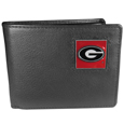 Georgia Bulldogs Leather Bi-fold Wallet Packaged in Gift Box