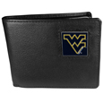 W. Virginia Mountaineers Leather Bi-fold Wallet Packaged in Gift Box
