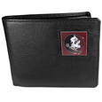 Florida St. Seminoles Leather Bi-fold Wallet Packaged in Gift Box