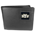 BYU Cougars Leather Bi-fold Wallet Packaged in Gift Box