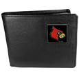 Louisville Cardinals Leather Bi-fold Wallet Packaged in Gift Box
