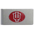 Indiana Hoosiers Brushed Metal Money Clip