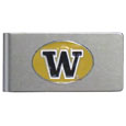Washington Huskies Brushed Metal Money Clip