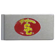 USC Trojans Brushed Metal Money Clip