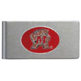 Maryland Terrapins Brushed Metal Money Clip