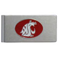 Washington St. Cougars Brushed Metal Money Clip
