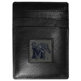 Memphis Tigers Leather Money Clip/Cardholder Packaged in Gift Box